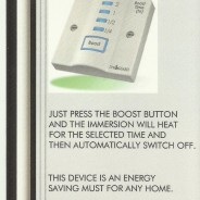 A Single Button Immersion Heater Timer
