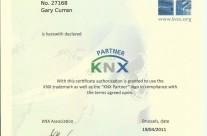 KNX IT Base Intelligent Building Controls Certificate – 2011